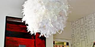 How To Make A Lamp Shade Chandelier A Simple Affordable And Beautiful Diy Feather Lampshade Pillar