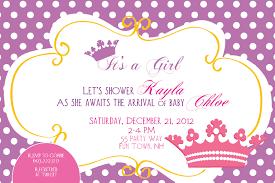 Princess Birthday Invitation Cards How To Create Princess Baby Shower Invitations Ideas Invitations
