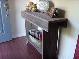 small entryway table with storage 34x13x34 entry reclaimed top