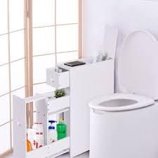 Bathroom Floor Cabinet Costway Narrow Wood Floor Bathroom Storage Cabinet Holder