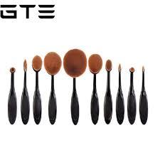 gte 10pcs tooth brush shape oval makeup brush set lazada malaysia