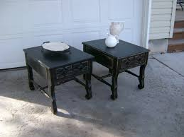 distressed black end table black end tables