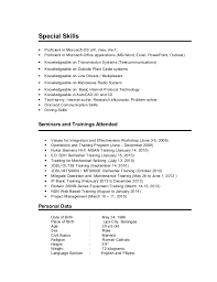 resume special skills microsoft office resume tips skills