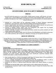 Benefits Manager Resume Occupational Health And Safety Manager Resume Template Premium