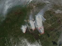 Canada Wildfire Satellite by Mcmurray Fires Cause Air Quality Issues