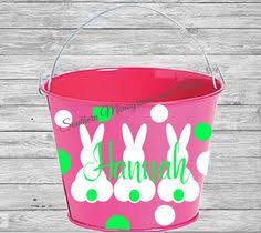 personalized easter buckets diy kits custom easter decal easter pail decal