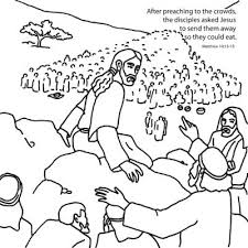 jesus feeds 5000 free coloring pages on art coloring pages