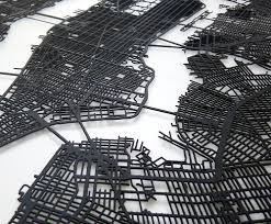 New York Pocket Map by Carbon Light 3d Laser Cut New York Street Map Noveltystreet