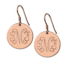 monogram earrings aliexpress buy freeshipping personalized monogram