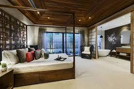 chambre japonaise moderne architecture maison japonaise design moderne lit cadre baldaquin