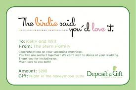 wedding gift money amount wedding registries with deposit a gift rock n roll