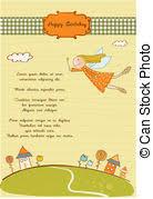 vector clip art of happy shabat greeting card vector illustration