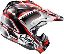 full motocross gear arai mx v speedy red helmet sixstar racing