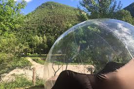 bulle chambre séjour à 2 en chambre bulle au cing de l auberge à mostuéjouls