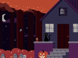 pixel art halloween background it feels good bubblyroyalties wattpad