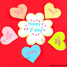 conversation hearts conversation hearts valentines day cards easy peasy and