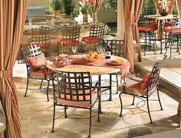 wrought iron dining table glass top appealing rod iron patio furniture patio furniture new wrought