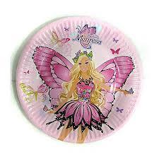 disney paper plate 23cm barbie mariposa