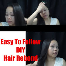 hair rebonding at home hair rebonding just at home youtube