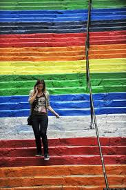 the heartwarming story behind turkey u0027s rainbow staircase huffpost