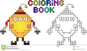 pixel art happy halloween vector illustration stock vector image