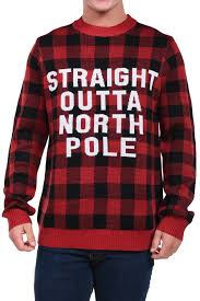 halloween cardigan men u0027s straight outta north pole sweater tipsy elves