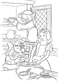 snow white coloring pages kids printable free printables