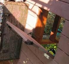 tree house trap door with slow hinges Yard & Garden