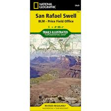Topographical Map Of Utah by 712 San Rafael Swell Blm Price Field Office Trail Map