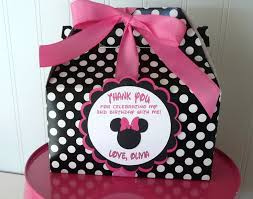 Birthday Favor Boxes by Custom Mickey Minnie Favor Box Set Of 30