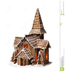 Christmas House by Gingerbread Cookies Christmas House Isolated Stock Photo Image