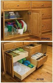 kitchen cabinet storage containers remodelaholic convenient and space saving cabinet