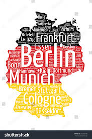 Erfurt Germany Map by Germany Map Flag Word Cloud Tag Stock Vector 192700286 Shutterstock