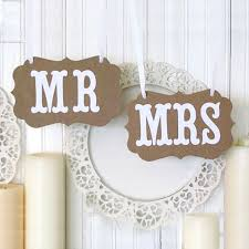 Mr And Mrs Sign For Wedding Vintage Mr U0026 Mrs Signs Diy Wedding Shop