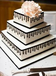 cake decorating ideas 3 layer white wedding cake with flower and