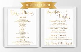 bar sign signature drink sign bar menu real gold foil print