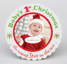 baby u0027s first christmas photo ornament