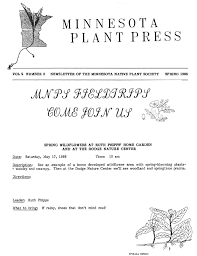 mn native plant society download spring 2006 minnesota plant press minnesota native