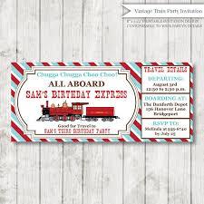 custom vintage train birthday invitation train themed party