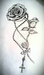 29 best rosary tattoo drawings for girls images on pinterest
