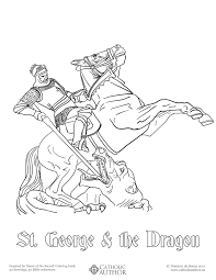 saint coloring page st george u0026 the dragon free hand drawn catholic coloring