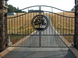 ornamental iron gates outdoor fence