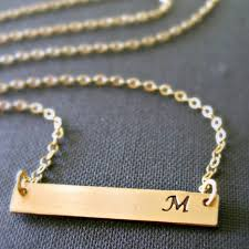 gold necklace with initial images Gold initial bar necklace taste of country store jpg