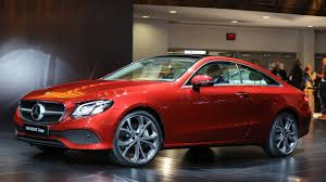 mercedes benz e class coupe shows off a shapely body in the motor city