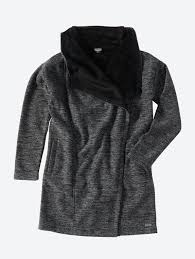Ladies Bench Jackets Bench Oversize Knitted Coat Structural With Plush Lining U2013 Hippe