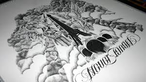never forget u0027 custom tattoo design speed drawing youtube