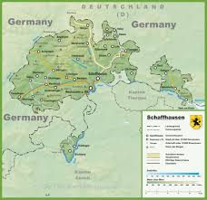 Autobahn Germany Map by Canton Of Schaffhausen Map With Cities And Towns