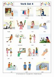 action words and verbs flashcards for kids set 4