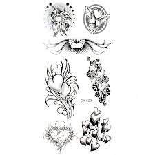heart flower tattoo collection 53
