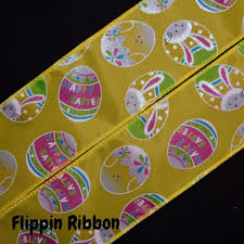 easter ribbon bunny easter ribbon 2 1 2 inch wired polyester ribbon